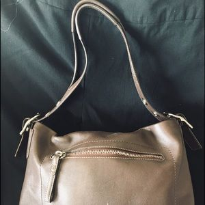 Coach Brown Leather Bag with Tassel